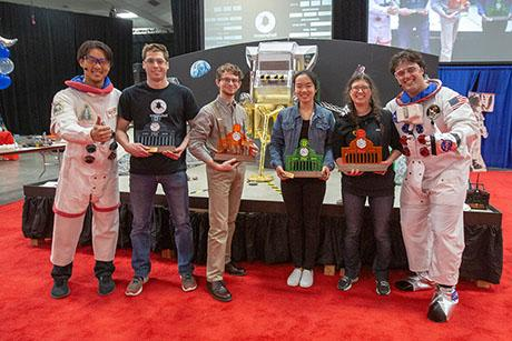 Robots shoot for the moon in MechE's annual 2.007 competition