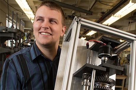 """PhD student Dan Dorsch wins """"Drive it"""" prize for his invention of the first lightweight, clutchless hybrid transmission."""