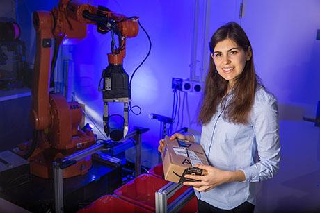 PhD candidate Maria Bauza is teaching robots how to move objects