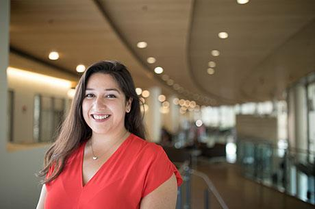 Graduate student Dora Aldama combines business and mechanics during Boeing internship.