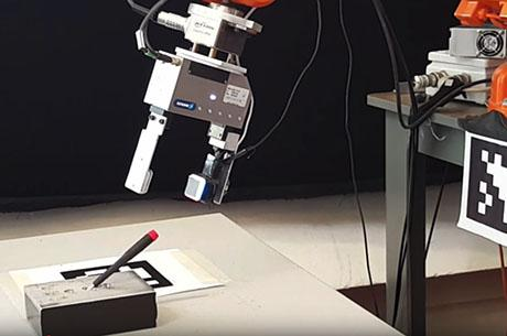 GelSight sensor enables a robot to judge the hardness of the surfaces and objects it touches.