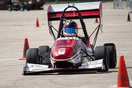 Led by senior Luis Mora, MIT Motorsports team places second in second in electric car competition
